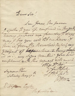 Autographs: GENERAL WILLIAM HOWE - AUTOGRAPH LETTER SIGNED 05/17/1788
