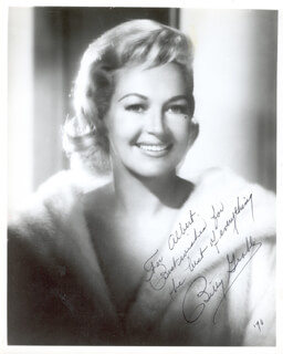 BETTY GRABLE - AUTOGRAPHED INSCRIBED PHOTOGRAPH 1970