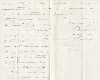 MAJOR GENERAL SETH WILLIAMS - AUTOGRAPH LETTER SIGNED 01/30/1864