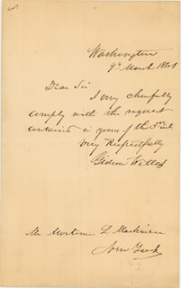 GIDEON WELLES - AUTOGRAPH LETTER SIGNED 03/09/1861  - HFSID 273022