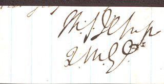 BRIGADIER GENERAL THOMAS S. JESUP - CLIPPED SIGNATURE