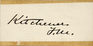 Autographs: FIELD MARSHAL HORATIO KITCHENER - SIGNATURE(S)