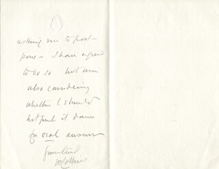 SIR WILLIAM JOB COLLINS - AUTOGRAPH LETTER SIGNED 12/03/1906