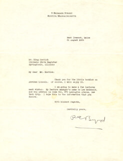 Autographs: REAR ADMIRAL RICHARD E. BYRD - TYPED LETTER SIGNED 08/31/1936