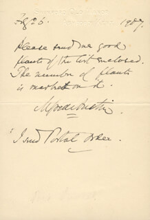 ALFRED AUSTIN - AUTOGRAPH NOTE SIGNED 02/26/1907