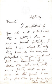 EDWIN ARNOLD - AUTOGRAPH LETTER SIGNED