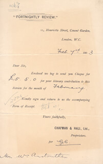 CLAYRE TENNANT ANSTRUTHER - DOCUMENT UNSIGNED 02/07/1903