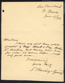 SABINE BARING-GOULD - AUTOGRAPH LETTER SIGNED 06/10/1890