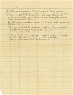 Autographs: THOMAS A. EDISON - AUTOGRAPH DOCUMENT UNSIGNED CIRCA 1930