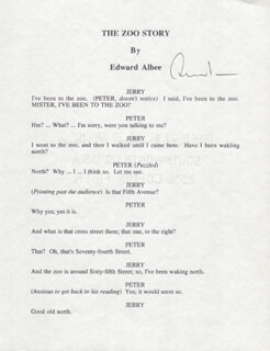 Autographs: EDWARD ALBEE - TYPESCRIPT SIGNED