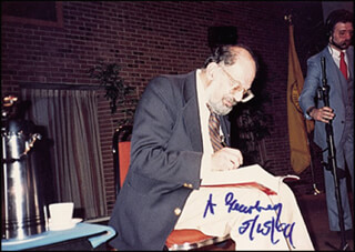 ALLEN GINSBERG - AUTOGRAPHED SIGNED PHOTOGRAPH 05/15/1994