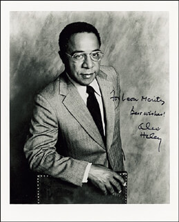 ALEX HALEY - AUTOGRAPHED INSCRIBED PHOTOGRAPH