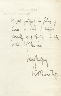 SIR WILLIAM H. 1ST BARONET BROADBENT - AUTOGRAPH LETTER SIGNED 05/02/1898