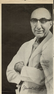 DR. MICHAEL E. DEBAKEY - MAGAZINE PHOTOGRAPH SIGNED