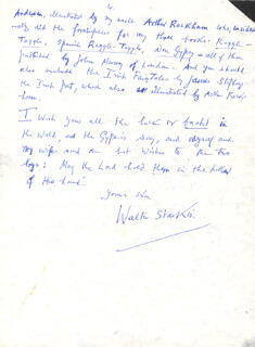 WALTER FITZWILLIAM STARKIE - AUTOGRAPH LETTER SIGNED 07/11/1973