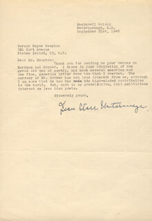 JEAN STARR UNTERMEYER - TYPED LETTER SIGNED 09/21/1946