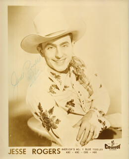 JESSE ROGERS - AUTOGRAPHED SIGNED PHOTOGRAPH