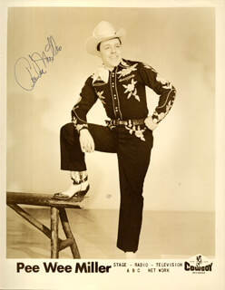 PEE WEE MILLER - AUTOGRAPHED SIGNED PHOTOGRAPH