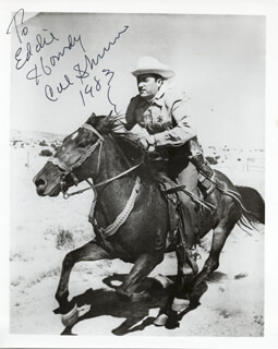 CAL SHRUM - AUTOGRAPHED INSCRIBED PHOTOGRAPH 1983