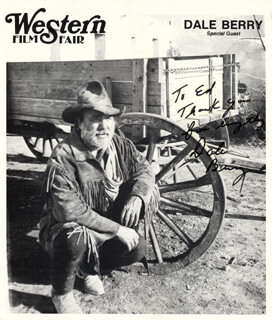 DALE BERRY - INSCRIBED PRINTED PHOTOGRAPH SIGNED IN INK