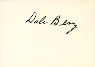DALE BERRY - AUTOGRAPHED SIGNED PHOTOGRAPH