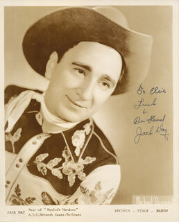 JACK DAY - AUTOGRAPHED INSCRIBED PHOTOGRAPH