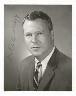 GOVERNOR PHILIP H. HOFF - AUTOGRAPHED SIGNED PHOTOGRAPH