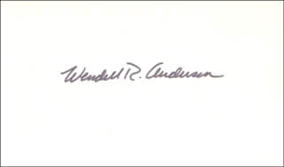 Autographs: WENDELL R. ANDERSON - SIGNATURE(S)