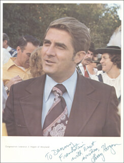 Autographs: GOVERNOR LAWRENCE J. HOGAN - INSCRIBED PHOTOGRAPH SIGNED