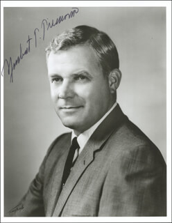 GOVERNOR NORBERT T. TIEMANN - AUTOGRAPHED SIGNED PHOTOGRAPH