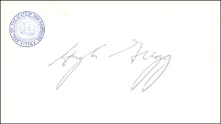 Autographs: HUGH GREGG - BUSINESS CARD SIGNED