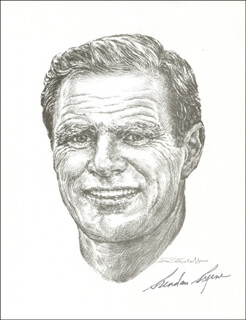 Autographs: GOVERNOR BRENDAN BYRNE - ILLUSTRATION SIGNED