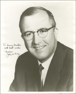 JOHN W. KING - AUTOGRAPHED INSCRIBED PHOTOGRAPH