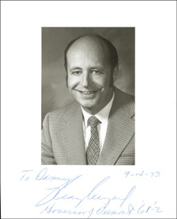 F. RAY KEYSER, JR. - AUTOGRAPHED INSCRIBED PHOTOGRAPH 09/14/1973