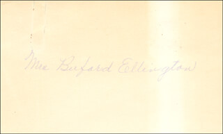 CATHERINE ANN (MRS. BUFORD ELLINGTON) CHEEK-ELLINGON - AUTOGRAPH