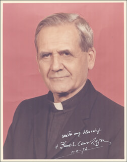 Autographs: PAUL E. CARDINAL LEGER - PHOTOGRAPH SIGNED 10/01/1974