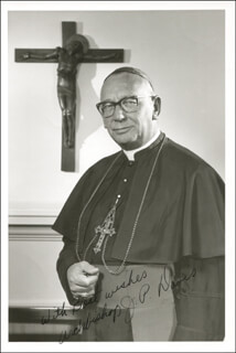 Autographs: ARCHBISHOP J. P. DAVIS - PHOTOGRAPH SIGNED