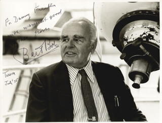 Autographs: BART J. BOK - INSCRIBED PHOTOGRAPH SIGNED 7/1975