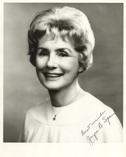 JAYNE B. SPAIN - AUTOGRAPHED SIGNED PHOTOGRAPH