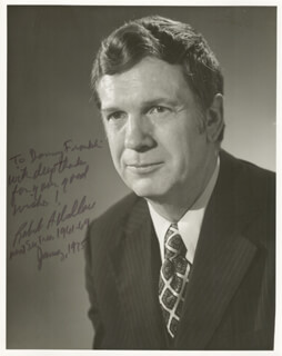 ROBERT A. WALLACE - AUTOGRAPHED INSCRIBED PHOTOGRAPH 1/1975