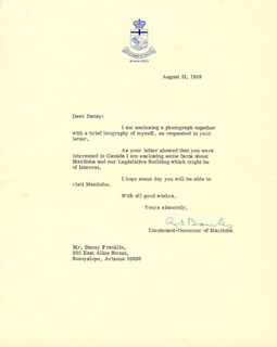 RICHARD S. BOWLES - TYPED LETTER SIGNED 08/21/1969