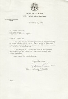 ANTONINA P. UCCELLO - TYPED LETTER SIGNED 12/17/1969