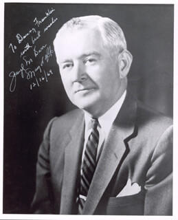 Autographs: JOSEPH M. BARR - INSCRIBED PHOTOGRAPH SIGNED 12/16/1969