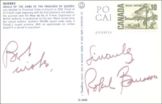 PREMIER ROBERT BOURASSA (CANADA) - PICTURE POST CARD SIGNED