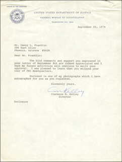 CLARENCE M. KELLEY - TYPED LETTER SIGNED 09/25/1974