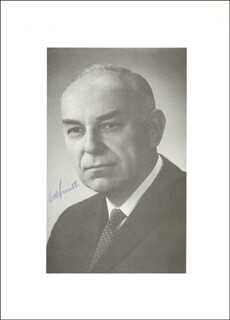 PREMIER G. I. SMITH (CANADA) - AUTOGRAPHED SIGNED PHOTOGRAPH