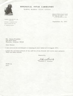 THOMAS C. POULTER - TYPED LETTER SIGNED 09/10/1973