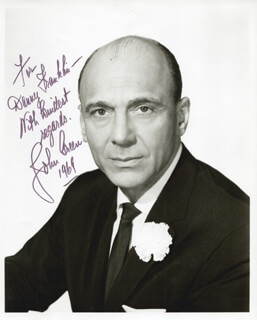 JOHN GREEN - AUTOGRAPHED SIGNED PHOTOGRAPH 1969