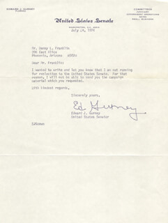 EDWARD GURNEY - TYPED LETTER SIGNED 07/24/1974