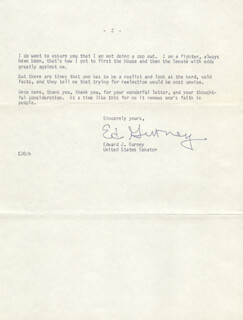 EDWARD GURNEY - TYPED LETTER SIGNED 08/07/1974